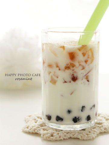 紅茶ゼリー&タピオカミルク
