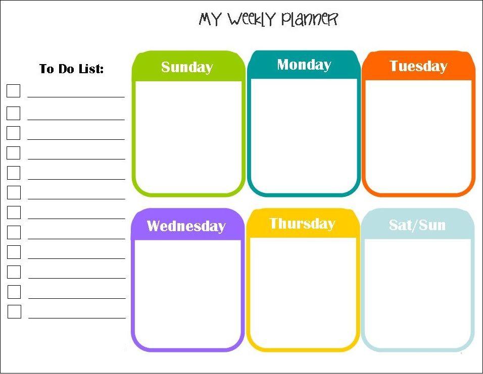 April 2018 Weekly Calendar Planner Download Calendar 2018 Weekly