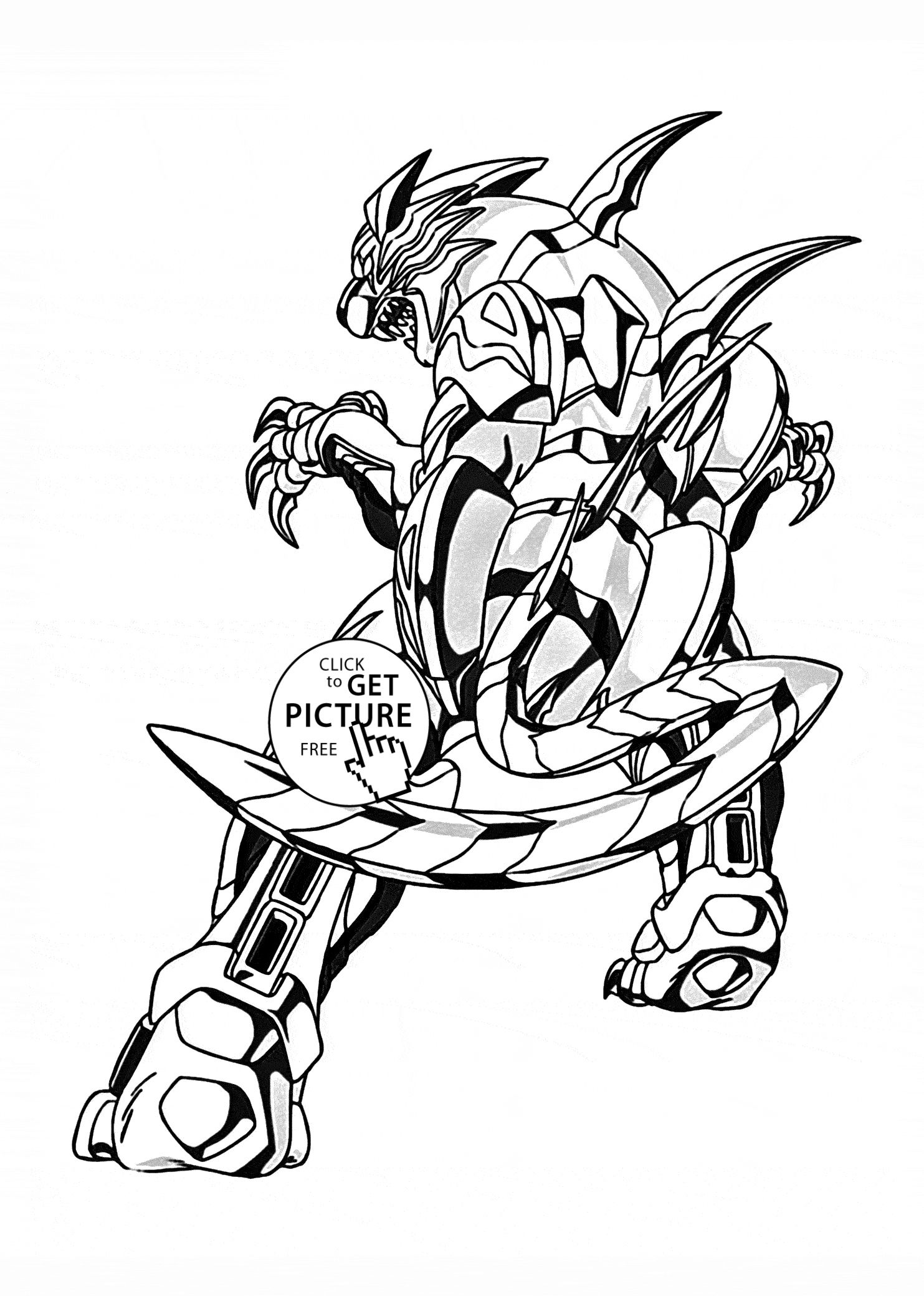 25 Coloring Pages Bakugan With Images