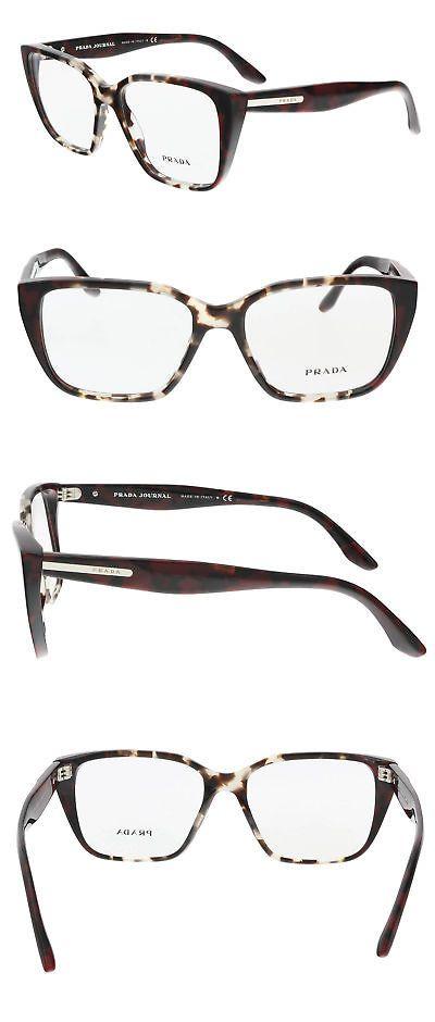 47edc2dcdf5 Fashion Eyewear Clear Glasses 179248  Prada Pr 08Tv U6k1o1 Spotted Brown  Opal Square Optical Frames -  BUY IT NOW ONLY   69.99 on eBay!