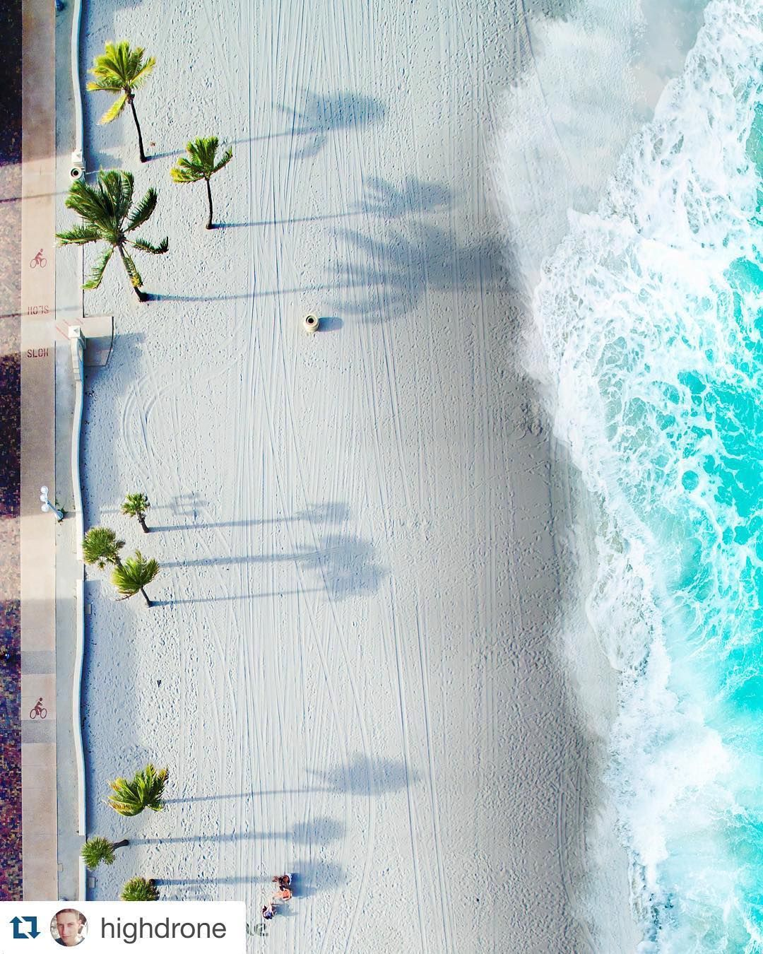 Fort lauderdale beach florida highdrone