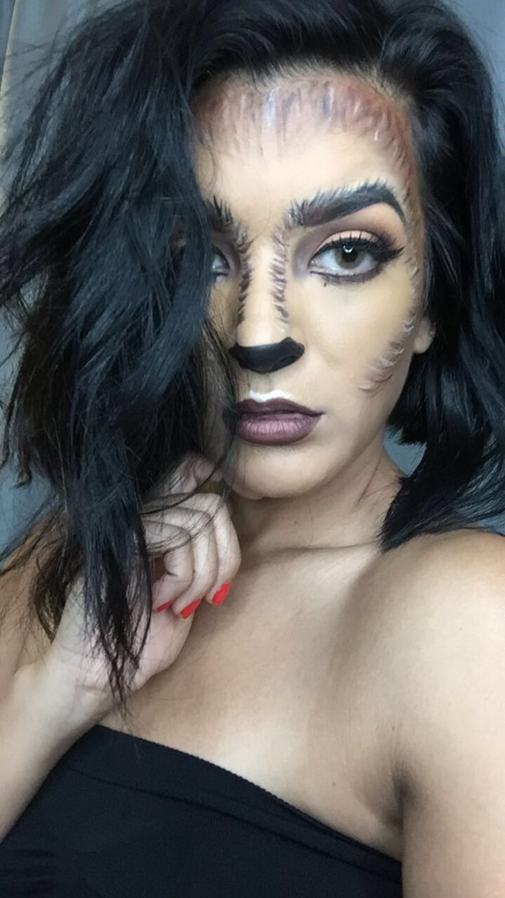She Wolf By Makeupby Rubina Halloweenmakeup Wolfgirl Wolf Hallowee Easy Hairstyles Creepy Halloween Makeup Halloween Makeup Witch Cute Halloween Makeup