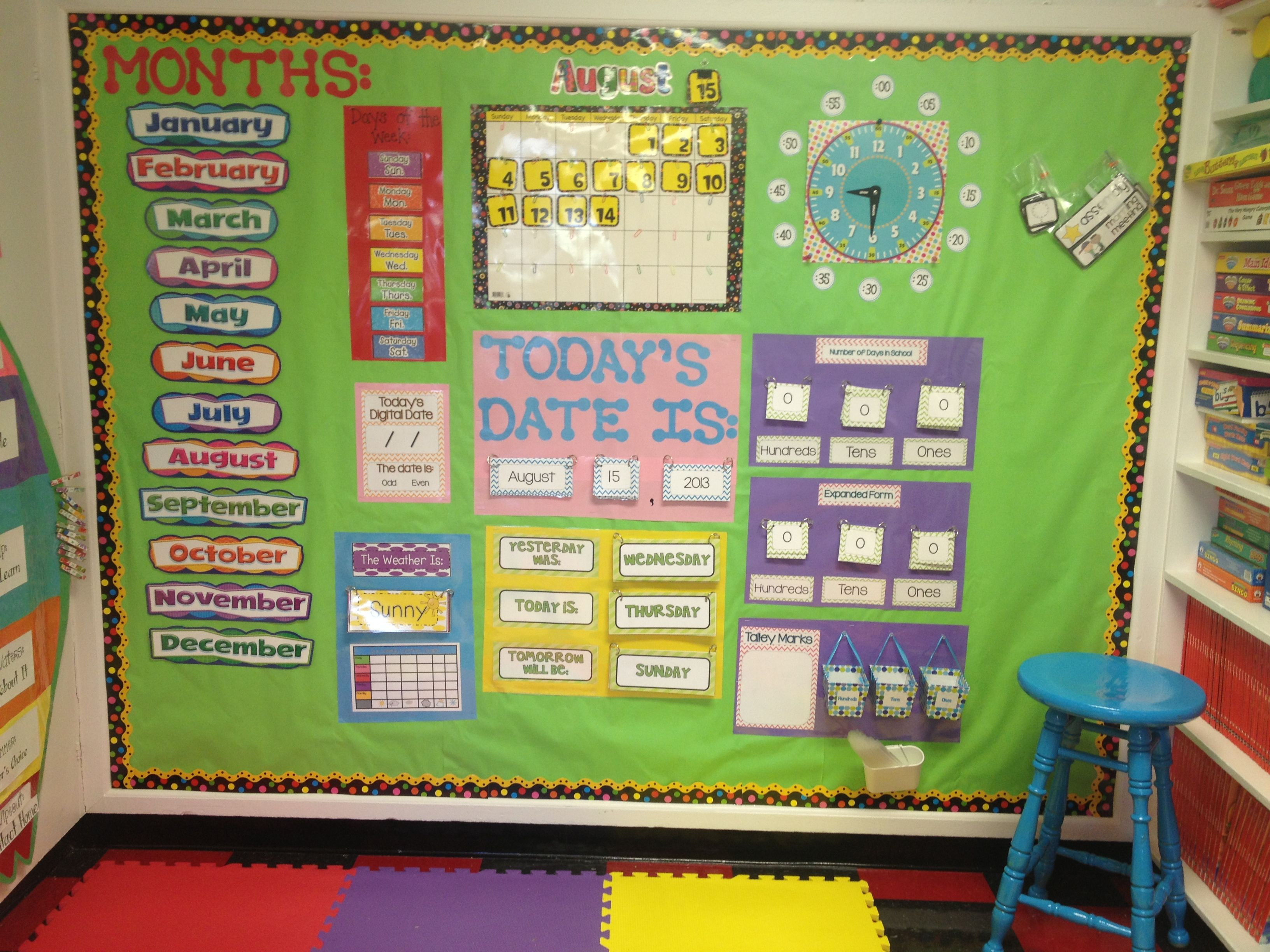Kindergarten Calendar Board : Best calendar math boards ideas on pinterest
