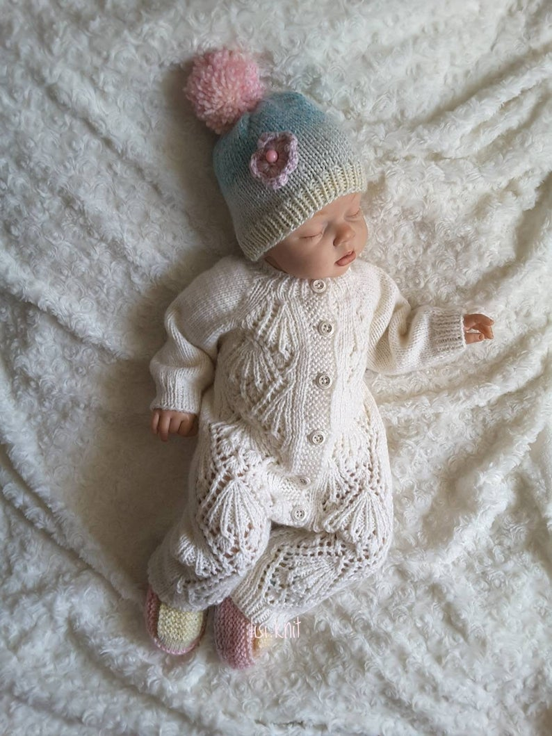 Photo of Hand knitted baby boy girl romper Hand knit baby set Baby | Etsy | baby boy knit…