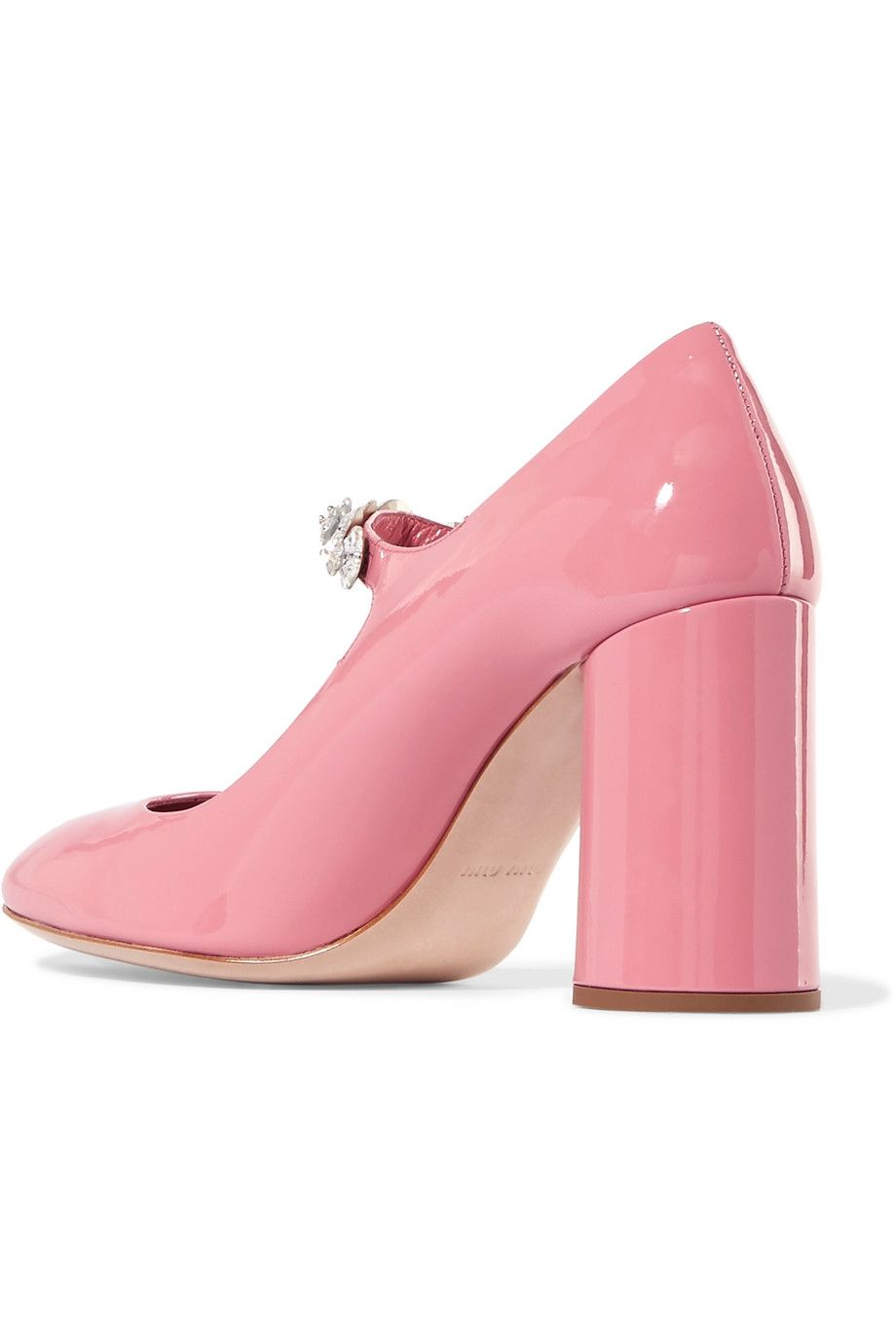 crystal embellished pumps - Pink & Purple Miu Miu