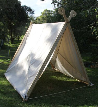 Viking tent with canvas cover. There is a download section on this website with patterns : canvas tent patterns - memphite.com