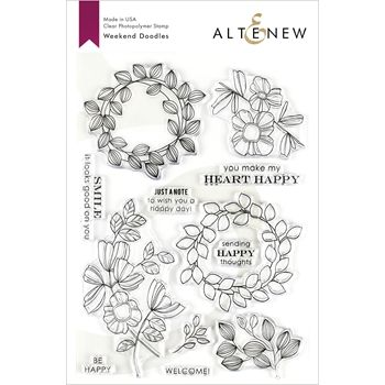 Photo of Altenew WEEKEND DOODLES Clear Stamps ALT3218