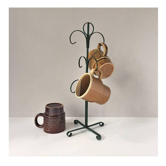 Metal Mug Tree Vintage Mug Holder Mug Stand Six-Mug Rack