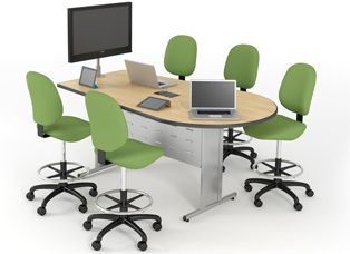 Collaborative Table | Computer Lab Tables | Classroom Furniture ...