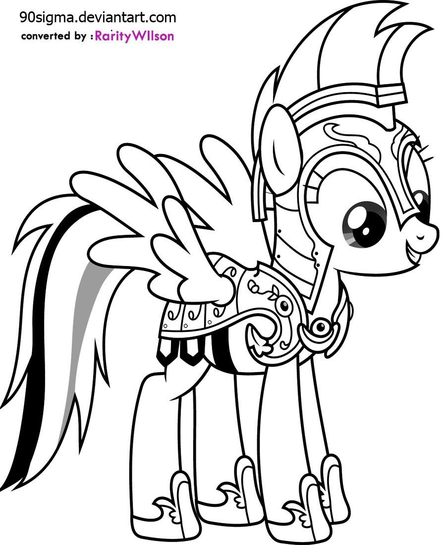 My little pony coloring pages rainbow dash games