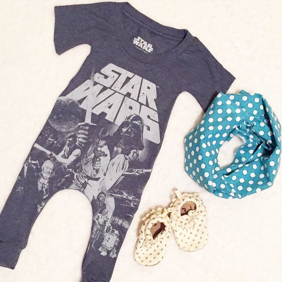 Upcycled t shirt romper star wars / baby by HiggyBabyDesigns | Baby ...