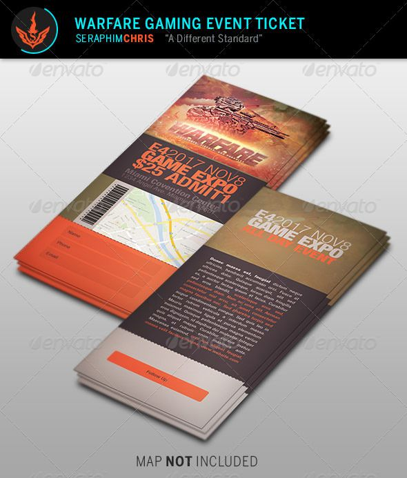 Warfare Gaming Event Ticket Template Ticket template, Event - event ticket template free download