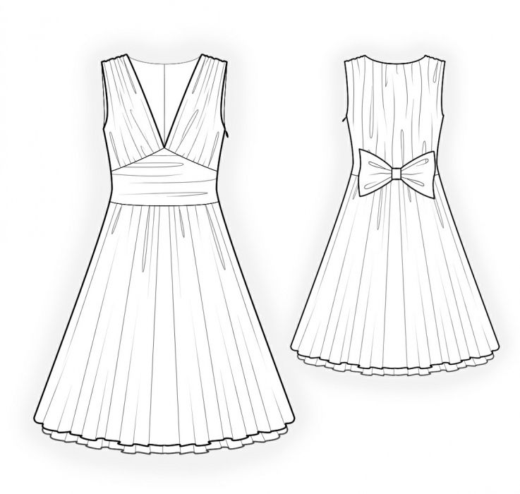 Sleeveless Dress - Sewing Pattern #4206. Made-to-measure sewing ...