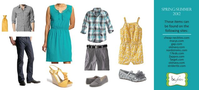 How to dress for spring family pictures