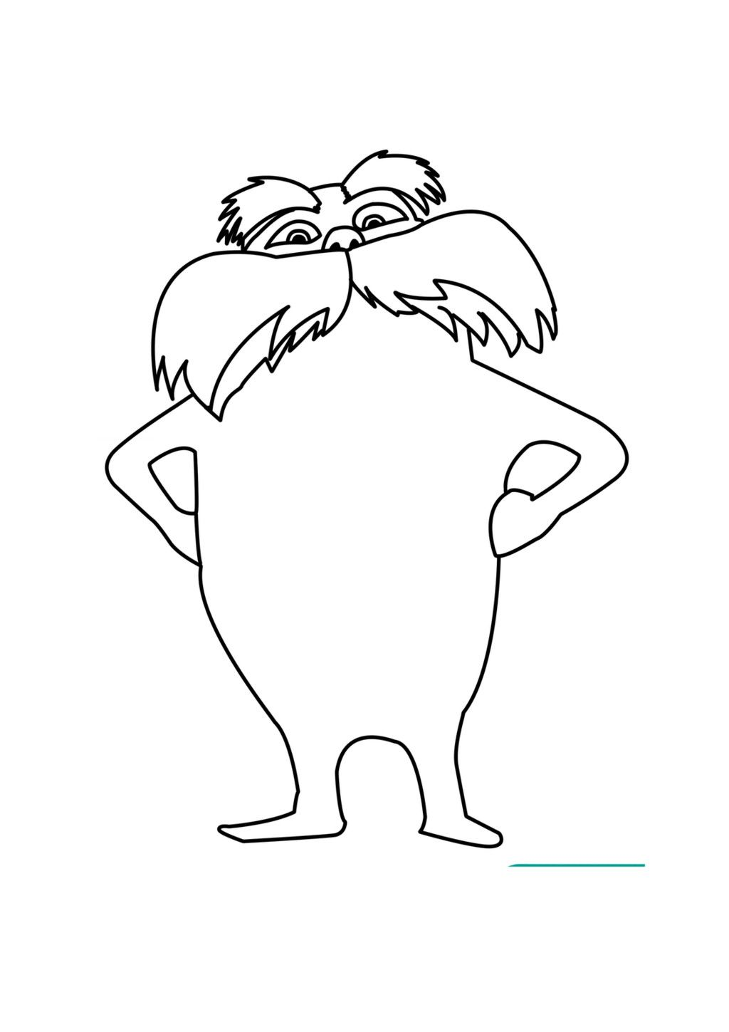 lorax coloring pages to print free printable lorax coloring
