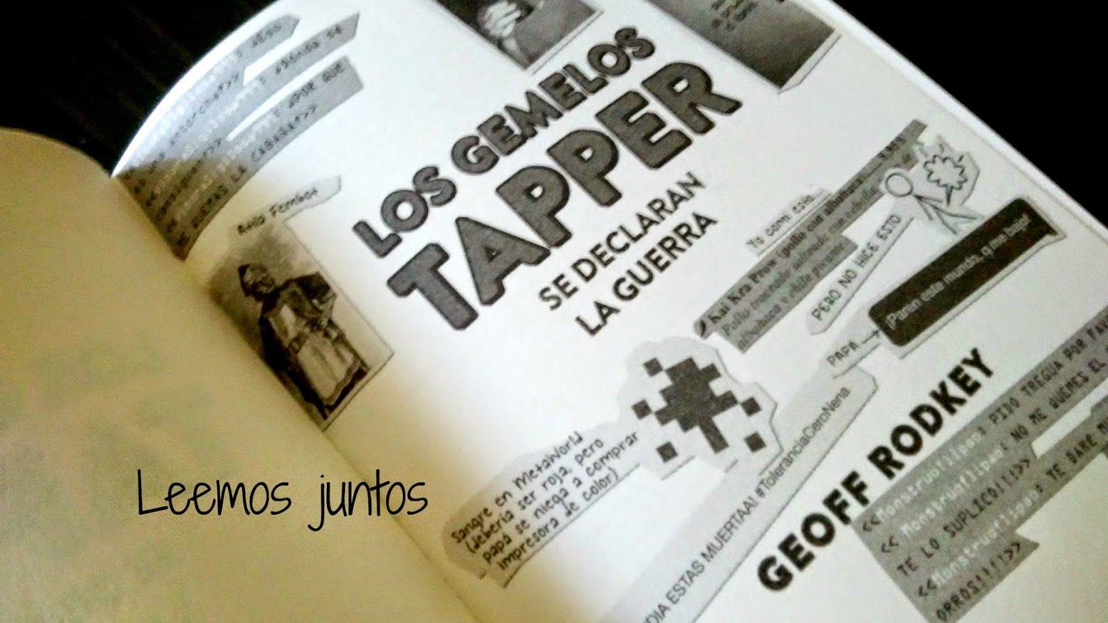 """""""Los Gemelos Tapper"""" de Geof Rodkey han aterrizado en casa, nos estamos leyendo sus aventuras y sus peripecias.. ¡¡madre mía que dos!!"""