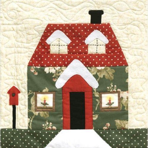 Apliques patchwork de casitas buscar con google - Patchwork en casa patrones gratis ...