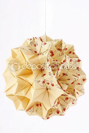 Handmade origami kusudama paper ball papier paper pinterest - Papierkugeln basteln ...