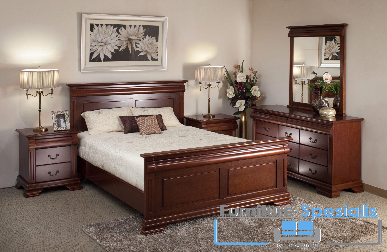 Set Tempat Tidur Antik Klasik Furniture Spesialis Bedroom Furniture Design Bedroom Interior Bedroom Bed Design Tempat tidur satu set