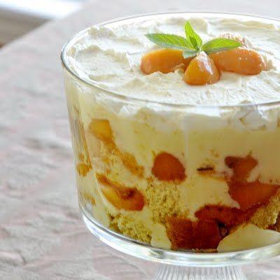 Peaches and Cream Trifle!!