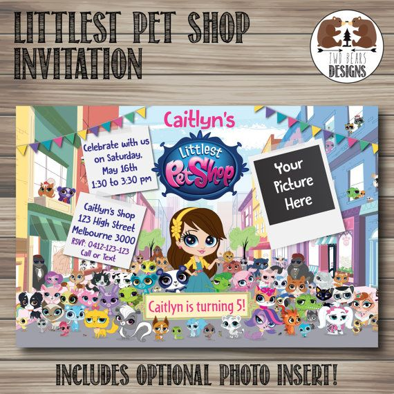 Hey, I found this really awesome Etsy listing at https://www.etsy.com/listing/231521907/littlest-pet-shop-invitation-optional