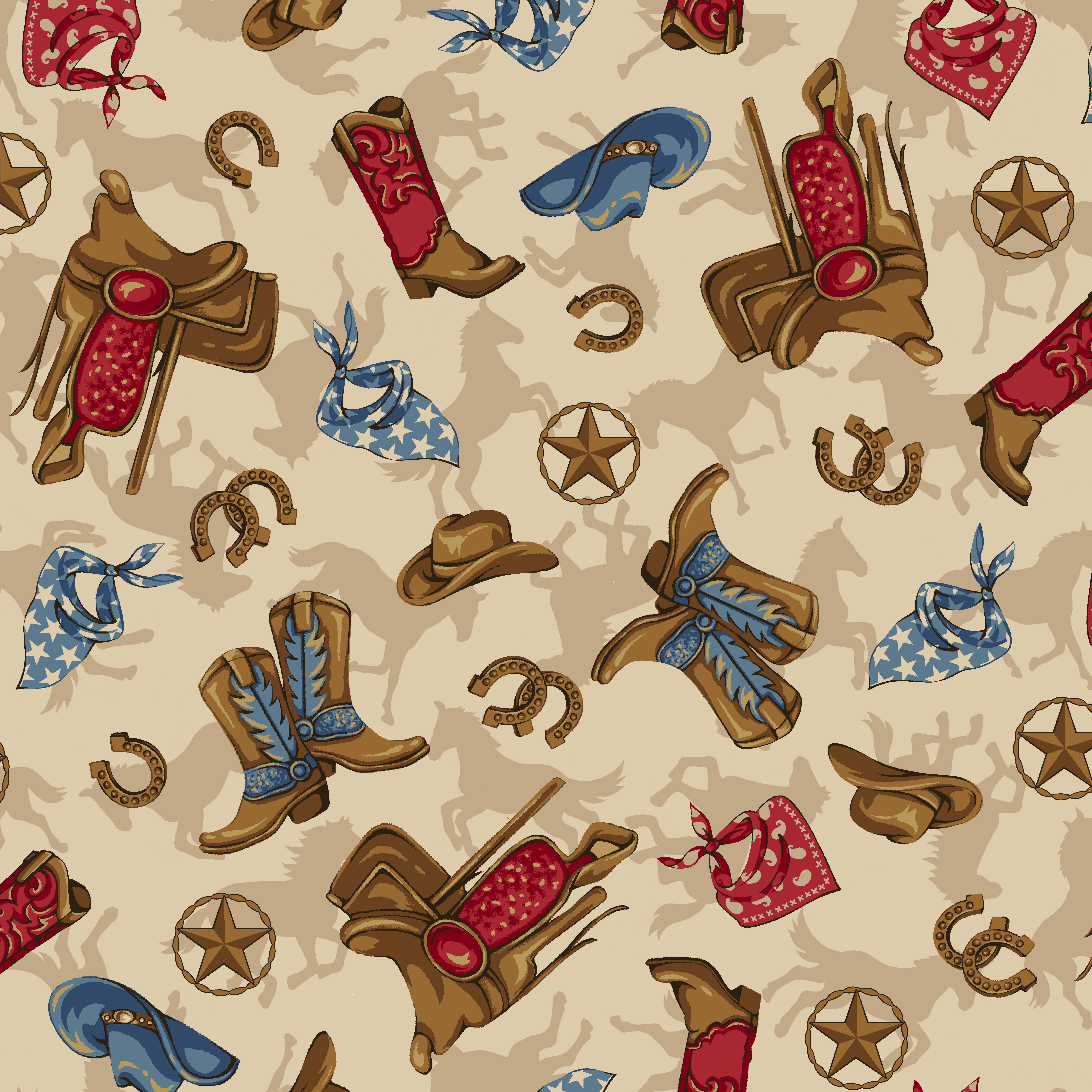 anti pill fleece fabric western boy tan at joann com fabric
