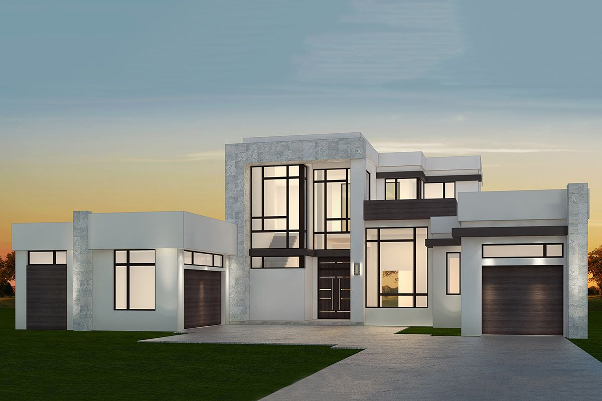 Plan 10BW: Stunning 10-Bedroom, Contemporary House Plan with