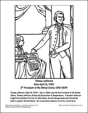 Thomas Jefferson Wordsearch, Worksheets, Coloring Pages | Thomas ...