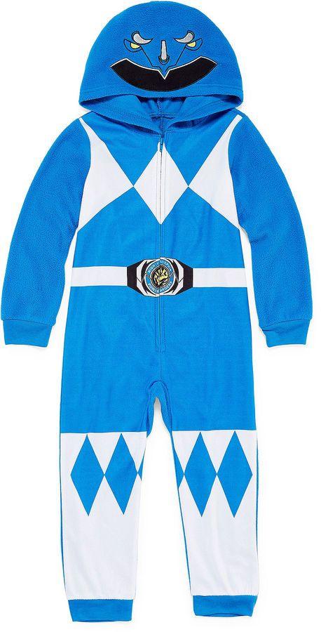 Power Rangers Boys Sleepwear Long Sleeve Footed Pajamas-Toddler Boys ... 36ffd0ac9
