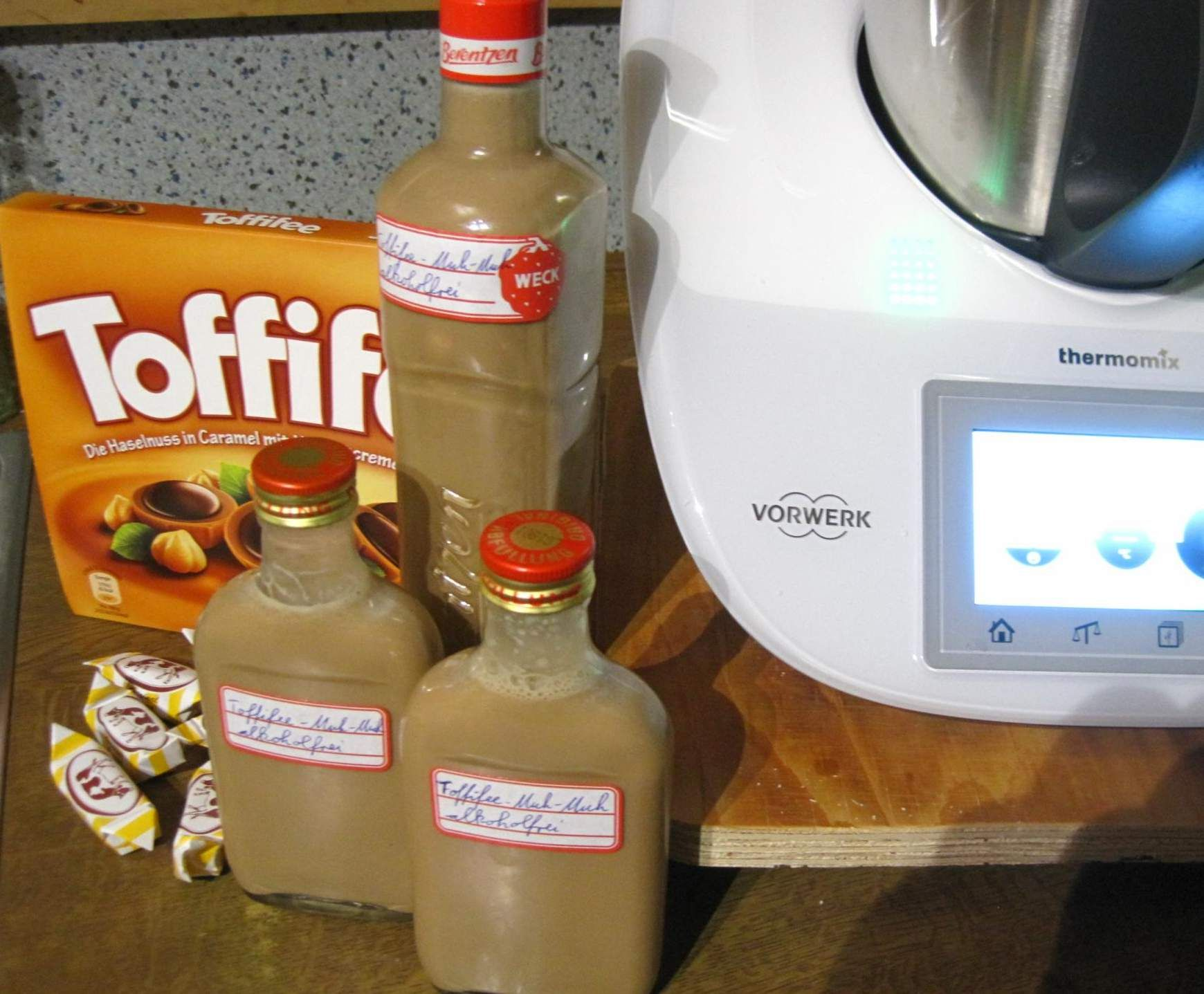 Muh-Muh-Toffifee-Likör alkoholfrei   Rezept   Toffifee likör ...