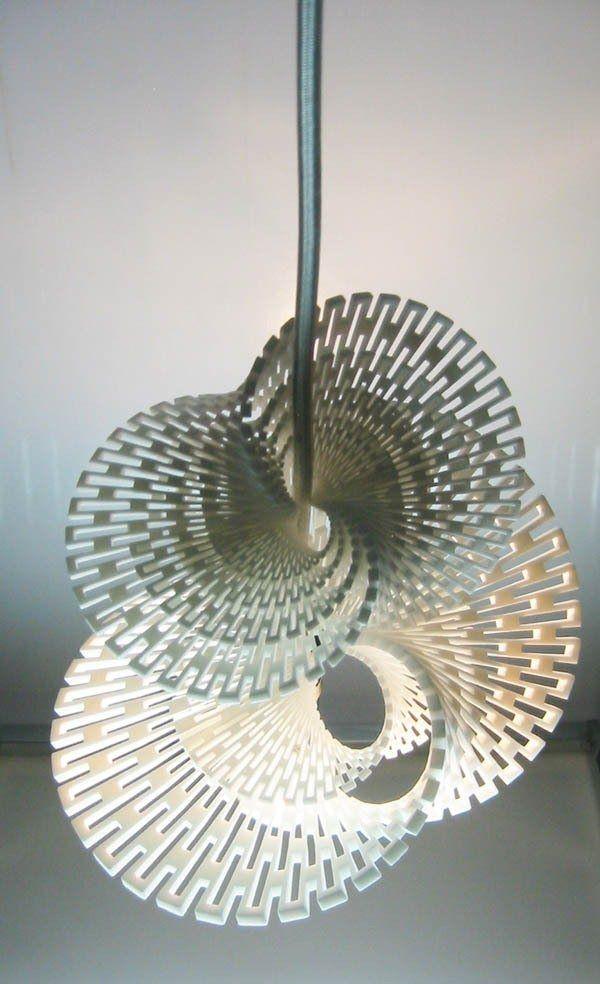 Margot Krasojevic's Fractal LED Generator Light - 3-D printed ceramic light