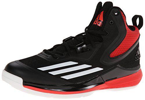 adidas Performance Men's Title Run Basketball Shoe, Core Black/White/Bright  Red,