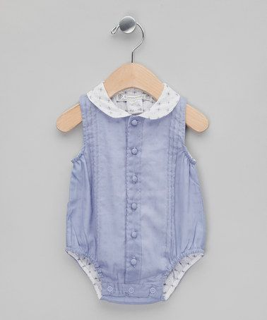 Denim Blue Printed Collar Rompersuit - Infant by Normandie on #zulilyUK today!