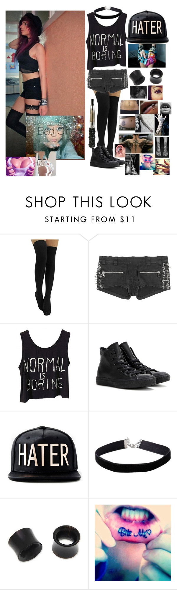 """""""intro (Reserved)"""" by rickyhorror28 ❤ liked on Polyvore featuring Balmain, Converse, Miss Selfridge and NOVICA"""