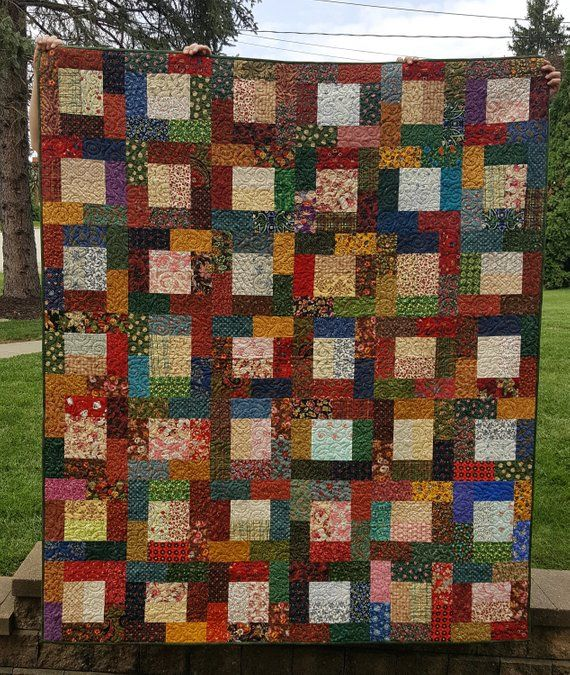 Rosemary A Jewel Tone Scrap Quilt Products Quilts