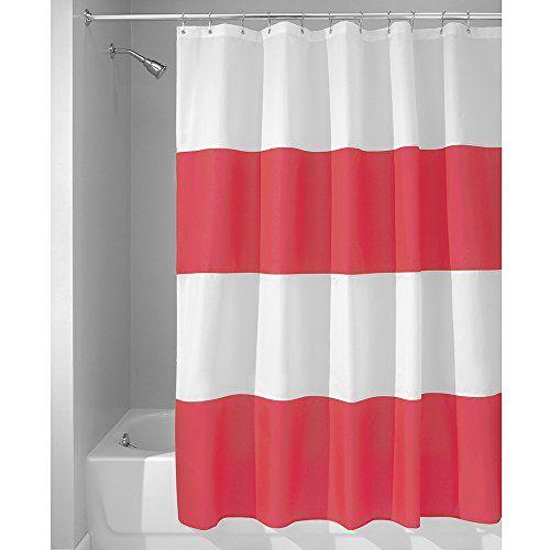InterDesign Mildew Free Water Repellent Zeno Fabric Shower Curtain, 72 Inch  By 72 Inch, Red/White InterDesign Http://smile.amazon.com/dp/B00AF5S4BCu2026