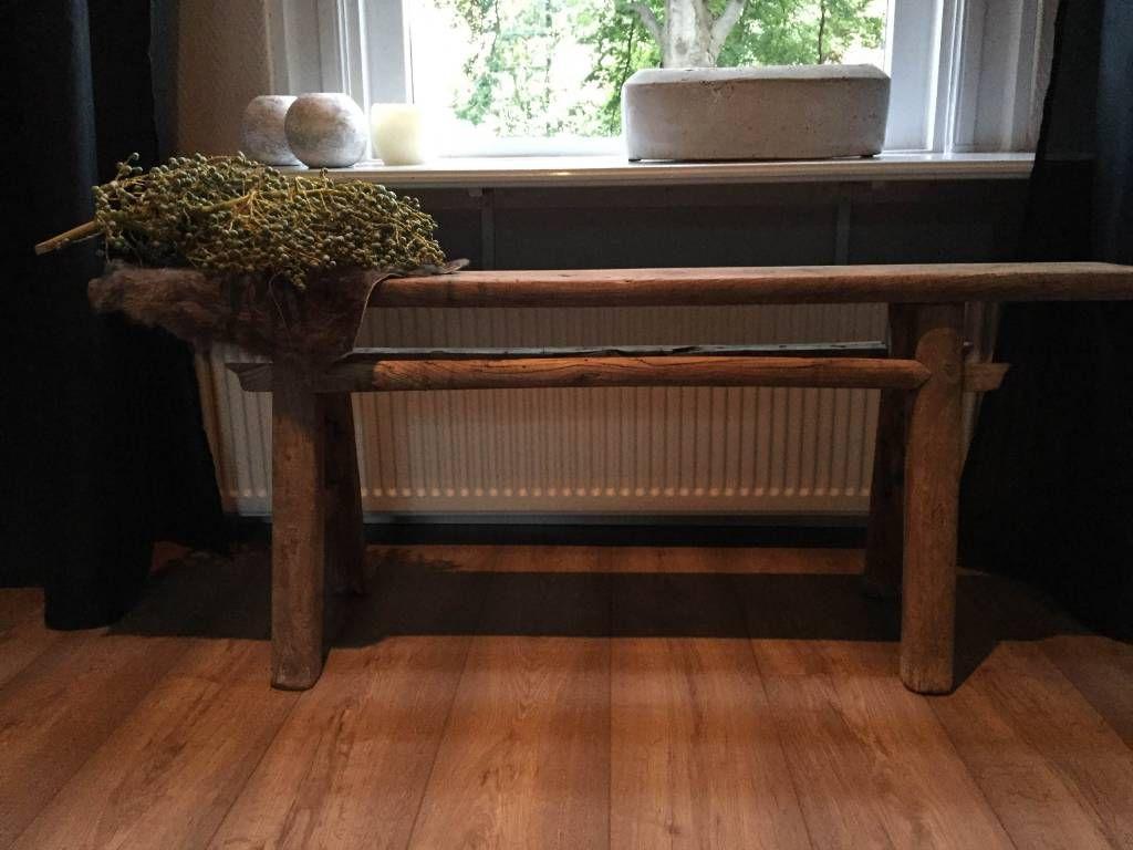 Sidetable orgineel oud hout stoer en sober pinterest oud hout en hout - Verlenging hout oud huis ...