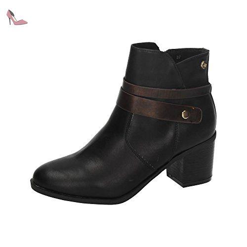 Botin SRA. C. Negro, Bottes Femme - Noir - Noir, 40 EUXti