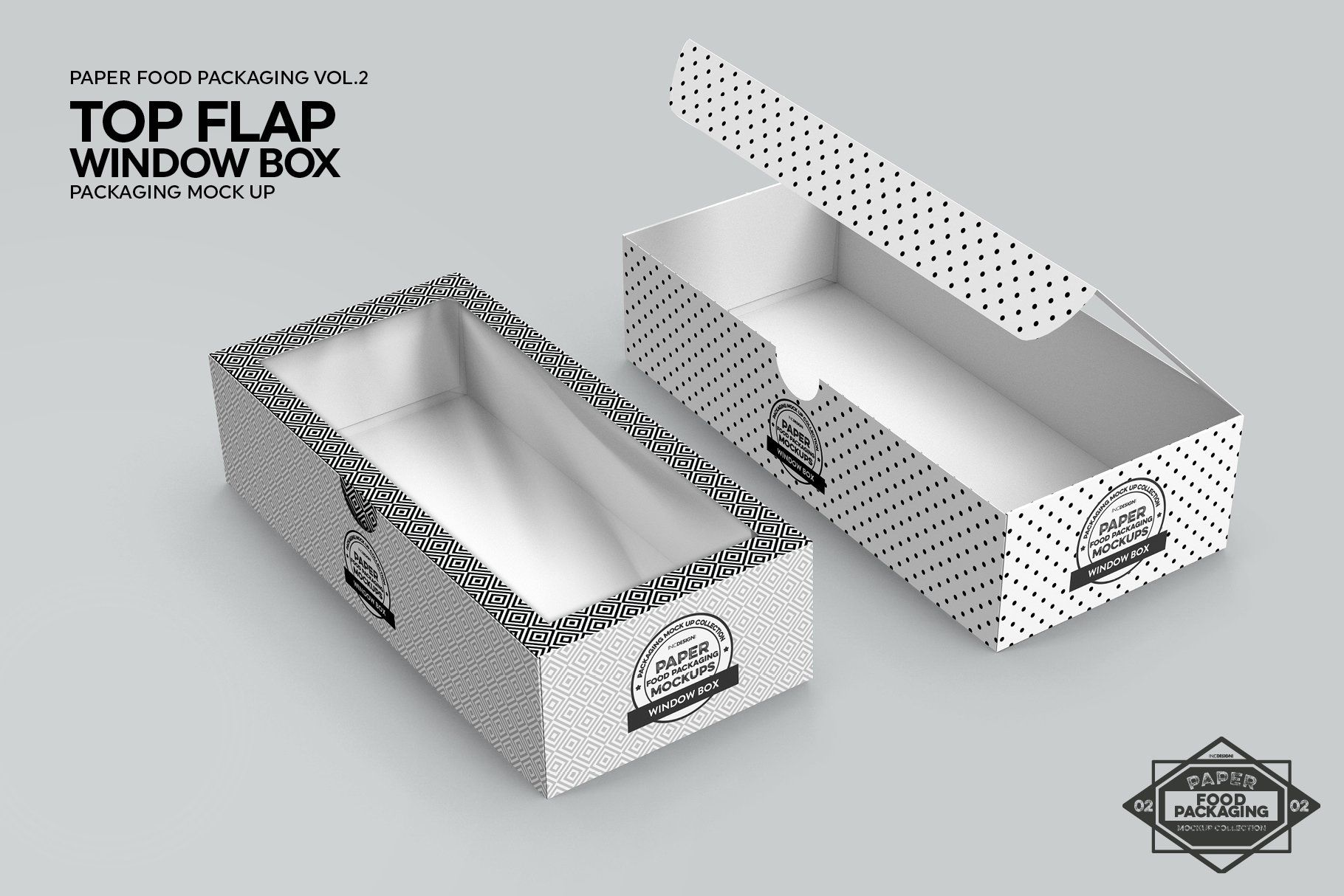 Download Top Flap Window Box Packaging Mockup Packaging Mockup Box Packaging Food Box Packaging