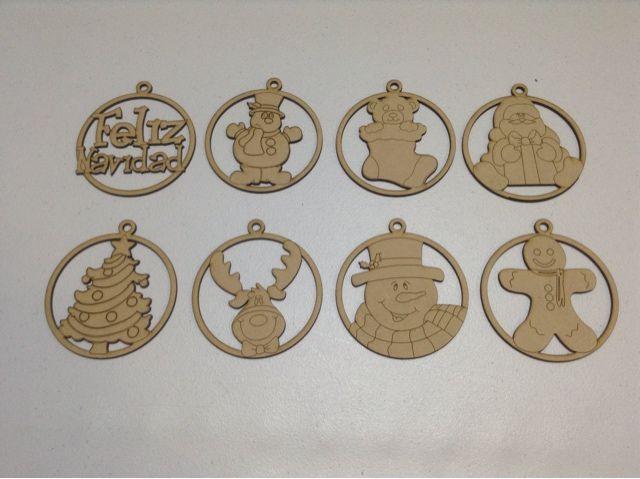 Esferas navide as para manualidades almendra recuerdos personalizados navidad esferas - Productos de madera para manualidades ...