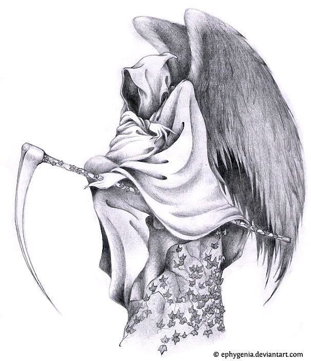 Grim Reaper Tattoo Nordic Tattoo: Grim Reaper Tattoo Design. Love The Wings. Very Well Drawn