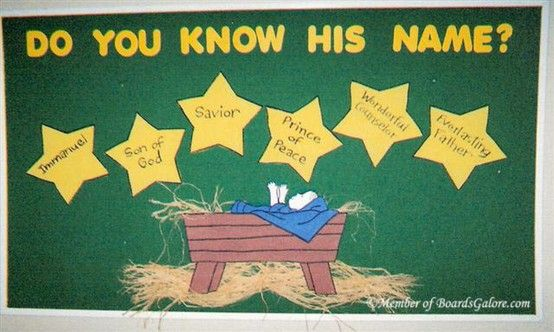 Christmas Bulletin Board Do You Know His Name Christmas Bulletin Boards Christmas Bulletin Christian Bulletin Boards