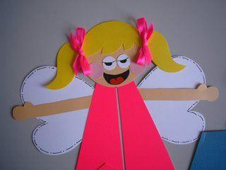 manualidades para niños: Angelitos en cartulina - Disfraz casero
