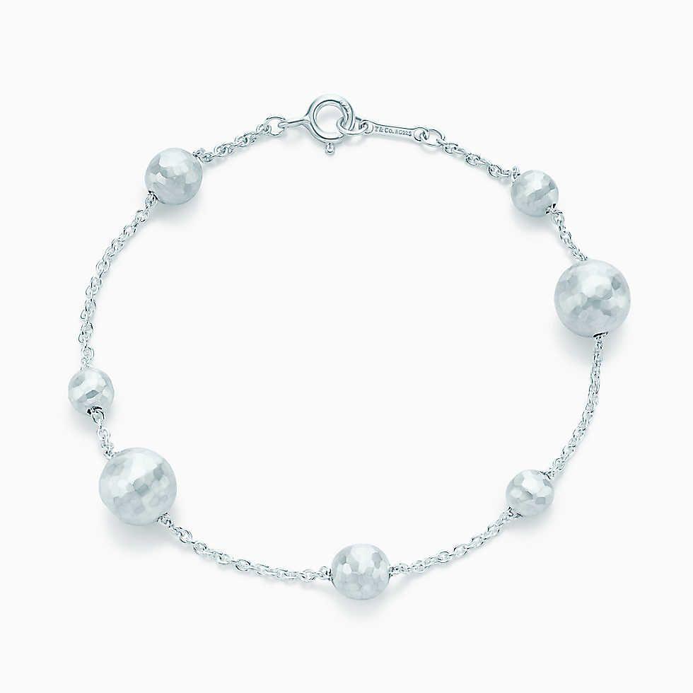 Paloma Picasso Bracelet De Perles En Argent Sterling Martelé, Moyen Tiffany & Co.