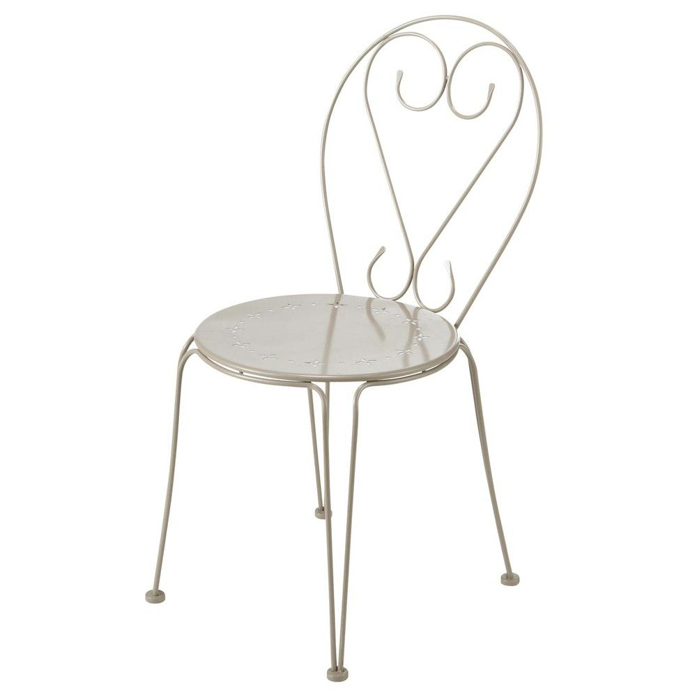 best metal garden chair in taupe mary maisons du monde with fauteuil copacabana maison du monde. Black Bedroom Furniture Sets. Home Design Ideas