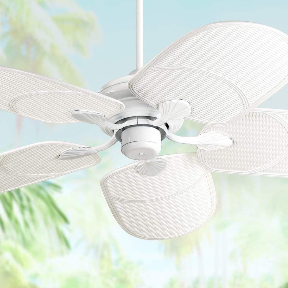 42 Casa Vieja Tropical White Outdoor Ceiling Fan 11g38 Lamps Plus Outdoor Ceiling Fans Tropical Ceiling Fans Ceiling Fan