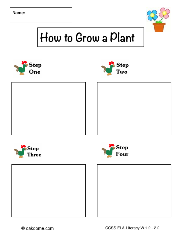 iPad Graphic Organizer - How to Grow a Plant - Plain (Common-Core ...