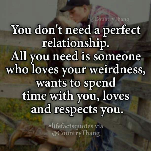 Quotes About Love Relationships: You Don't Need A Perfect Relationship All You Need Is