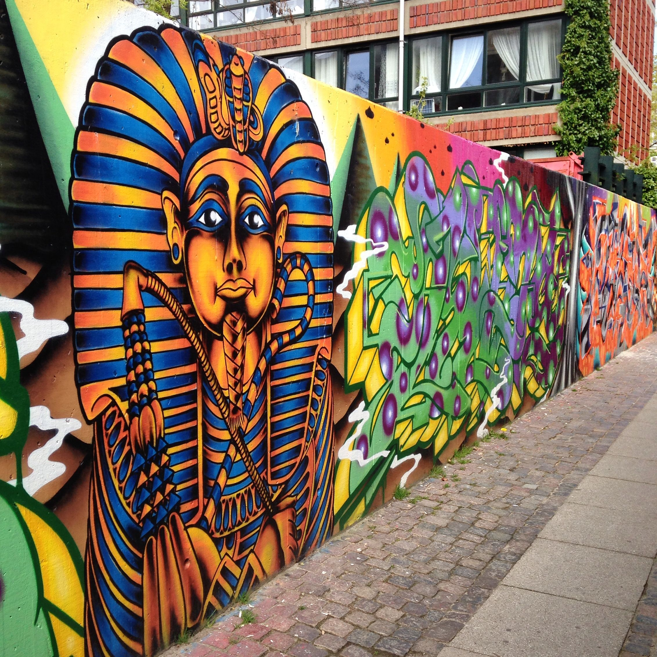 Beautiful Egyptian street art painting in Vesterbro