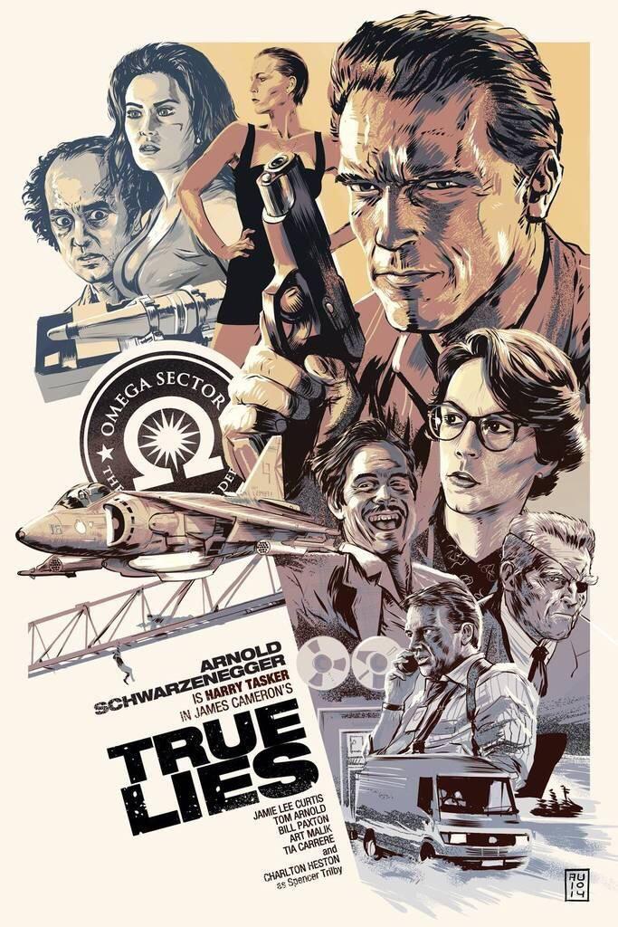 TRUE LIES (1994) #AlternativePosters #PostersCine #movieposters #movies #TrueLies http://t.co/LKcBS9vPmK   AlternativePosters (_Poster